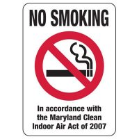 Maryland No Smoking Sign