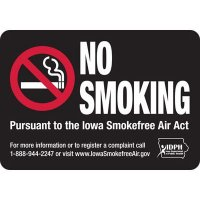 Iowa No Smoking Sign