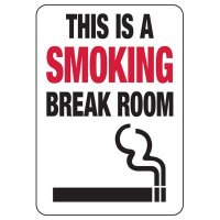 Connecticut Smoking Break Room Sign