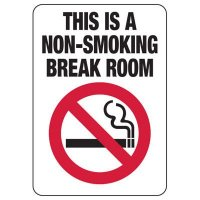 Connecticut Non-Smoking Break Room Sign
