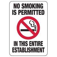 Minnesota No Smoking Permitted Sign