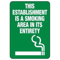 Minnesota Establishment Is Smoking Area Sign