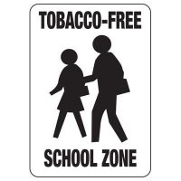 Tobacco-Free School Zone Sign