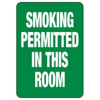 Smoking Permitted In Room Sign
