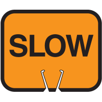 Snap-On Cone Sign - Slow - Arrow Sign SLOW