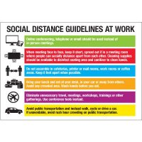 Social Distance Guidelines at Work Board