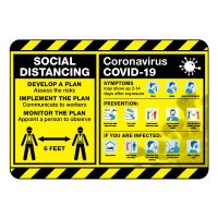 Social Distancing COVID-19 Plan Construction Site Sign