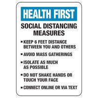 Please Follow All Social Distancing Measures Sign