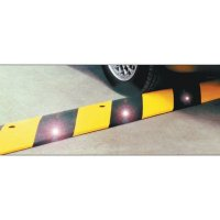 Reflective Rubber Speed Bump - Stripes