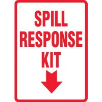 Spill Response Kit Sign