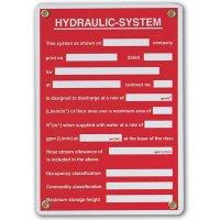 Hydraulic-System - Sprinkler Control Valve Sign