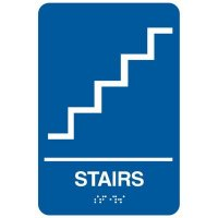 Economy Braille Signs - Stairs