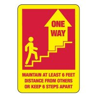 One Way Stairs Sign (Up Arrow)