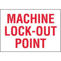 Lock-Out Labels - Machine Lock-Out Point