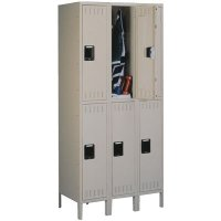 Double Tier 3 Wide Lockers