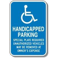 State-Specific Handicap Parking Signs - Massachusetts