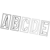 Plastic Stencil Letter Set