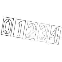 Plastic Stencil Number Set