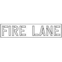 Fire Lane Stencil