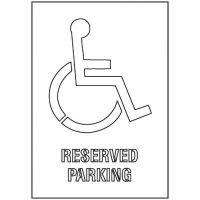 Reserved Parking Stencil