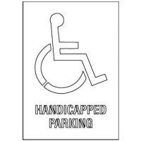 Handicapped Parking Stencil