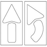 Arrows Stencil Pavement Tool S-4042 D