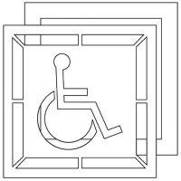 Handicapped Symbol Stencil Pavement Tool S-3030 D