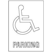Handicapped Parking Symbol Stencil