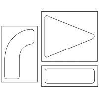 Arrow Set Stencils Pavement Tool S-4090 D