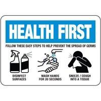 Steps To Prevent The Spread Of Germs Sign