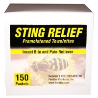 Sting Relief Towelettes Safetec 52014