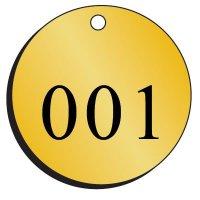 Standard Abbreviation Brass Valve Tags