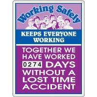 Working Safely Keeps Everyone Working Scoreboard