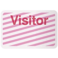 Stock TIMEbadge®  - Visitor Adhesive