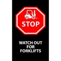Stop, Watch Out For Forklifts - Safety Message Mat