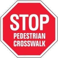 Stop Traffic Signs - Pedestrian Crosswalk