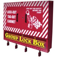 Wall Mount Storage and Group Lock Box Combination Cabinets