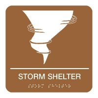 Storm Shelter - Graphic Braille Signs