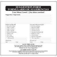 Bilingual Suggestion Box Forms