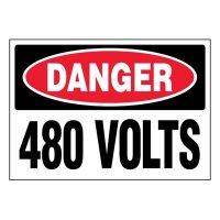 Super-Stik Signs - Danger 480 Volts
