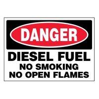 Super-Stik Signs - Danger Diesel Fuel No Smoking
