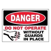 Super-Stik Signs - Danger Do Not Operate