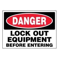 Super-Stik Signs - Danger Lock Out Equipment
