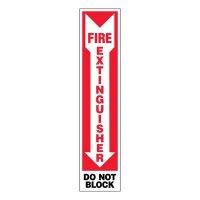 Super-Stik Sign - Fire Extinguisher Do Not Block