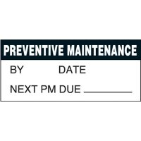Maintenance Super-Stik Status Label