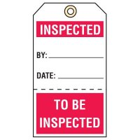 Tear-Off Quality Control Tags - Inspected