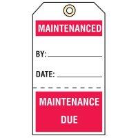 Tear-Off Quality Control Tags - Maintenanced