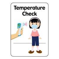 Temperature Check Sign
