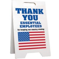 Thank You Essential Employees Floor Stand Sign