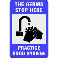 The Germs Stop Here - Safety Message Mat